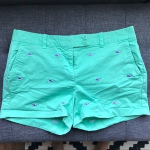 Vineyard Vines Chino Short with Embroidered Whales